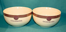 Chambord Black Raspberry Liqueur Ice Cream Bowls Set of 2