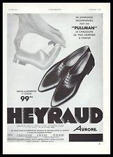 Publicité chaussures HEYRAUD mode fashion shoes vintage photo print ad 1933 -4h