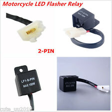 Motorcycle Turn Signal Lights Hyper Flash 2-Pin Electronic LED Flasher Relay New