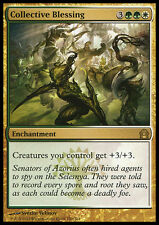 COLLECTIVE BLESSING NM mtg Return to Ravnica Gold - Enchantment Rare