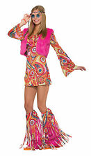 GROOVY HIPPY FUR-REVER 1970'S PARTY FANCY DRESS COSTUME