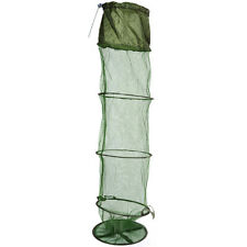 Foldable Cage crab Fish crayfish shrimp prawn eel Trap Net Bait Fishing Pot Tool