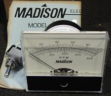 Madison Industrial Tachometer RPM Guage A100-CM200 with Switch