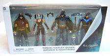 Batman Arkham City *NEW* Figure 4-Pack Batman Harley Quinn Nightwing Robin