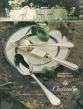 ▬► PUBLICITE ADVERTISING Christofle Couverts Oceana Porcelaine Rubanea 1994