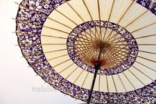 Japanese umbrella bull's-eye Bangasa Wagasa bamboo sd arabesque design purple
