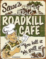 Enseigne Métal Patiné Steves Roadkill Cafe (de)