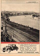 44 NANTES VUE GENERALE RENAULT CHAMPS ELYSEES PARIS PUB 1930