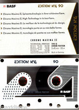 CASSETTE AUDIO BASF EDITION Nº4 CHROME MAXIMA II 90 MINUTES *VINTAGE*POWER SOUND