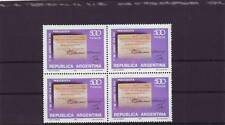 a106 - ARGENTINA - SG1677 MNH 1980 JOURNALISTS DAY - BLOCK OF 4