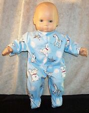 "Doll Clothes Baby fit American Girl Bitty 15"" inch Pajamas Bear Rocking Horse"