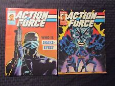 1987 Marvel UK Weekly ACTION FORCE #11 13 14 15 LOT of 4 FVF