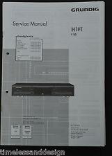 Grundig Service Manual HiFi t22 sintonizador esquema eléctrico instrucciones
