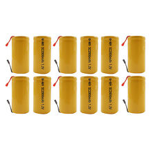 12PCS Sub C 2900mAh 1.2V Ni-MH Rechargeable Battery Tabs Power Tools RC Orange