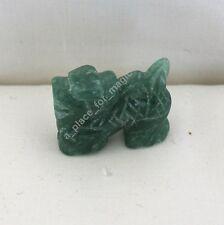 NEW Dragon Spirit Animal Totem Carving Green Aventurine