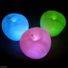 Cute Fruit Apple Shape Color Changing LED Lamp Night Light Bedroom Bar KTV Decor