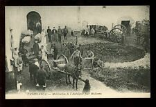 Morocco CASABLANCA Horse drawn Ambulance Cart early RED CROSS PPC