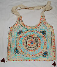 New Embroidered Cotton Shoulder Bag - Fairly Traded Hippy Ethnic Rajasthani