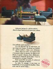 """Publicité Advertising 1966  Airborn salon """"Concorde"""" le """"plein confort"""" meuble"""