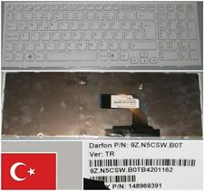 CLAVIER QWERTY TURQUE SONY VAIO VPC-EL 9Z.N5CSW.B0T, 148969391 Blanc