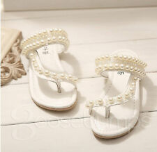 NEW Baby Girls Sandals Flower Girl Shoes Confirmation Shoes Princess Pearl Thong