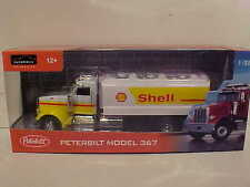 Shell Oil Gas Tanker Semi Truck Peterbilt 367 Die-cast 1:32 Automaxx 12 inches