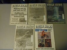 LOT OF 5 JUNE 1988 CYCLE NEWS MOTORCYCLE NEWSPAPERS,MOREHEAD,WARD,HOLLAND,AMA