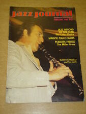JAZZ JOURNAL INTERNATIONAL VOL 35 #2 1982 FEBRUARY BUDDY DE FRANCO PEANUTS HUCKO