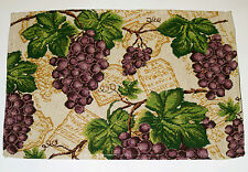 SET of 4 Tapestry Placemats Grape Vine Kitchen Dining Dinner Table Fabric Mats