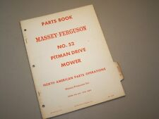 MF 52 MOWER SICKLE for MASSEY FERGUSON TRACTOR PARTS BOOK MANUAL CATALOG