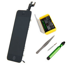 Black Full Front LCD Digitizer Touch Screen Assembly Parts w/Tools for iPhone 5S