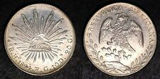 MEXICO 1894 HO 8 REALES LARGE MEXICAN SILVER COIN