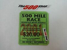 2001 Indianapolis 500 Mile Race Grounds Gate Admission Used Ticket