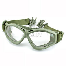 Dream Army Clear Glasses Goggles for FAST Helmet / Green (KHM Airsoft)