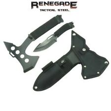 Renegade-Deep Woods - Wolf Axe & Throwing Knife Pack w/ Sheath RT116 New-