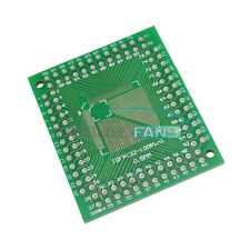 2PCS TQFP/QFP/LQFP/FQFP 32/44/64/80/100 To DIP Adapter PCB Board Converter MF