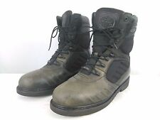 Men's Harley Davidson Black Leather Gore-Tex Motorcycle Boots FXRG Size 12