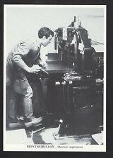 MONTMORILLON (86) M. CORLIER , OUVRIER IMPRIMEUR au MASSICOT en ATELIER en 1988