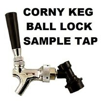 BEER TAP SAMPLING FAUCET w/ BALL LOCK QUICK DISCONNECT for CORNELIUS CORNY KEG