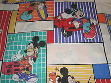 Mickey Mouse MR COOL Twin FLAT Bed Sheet Or Material,Crafting,Drapery, Sheets