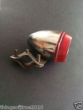 vintage tail light red bicycle rear back Portugal Portuguese bike cycle chrome