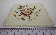 1:12 Scale Vinyl Tablecloths Doll House Miniatures Accessories ( Cream A)