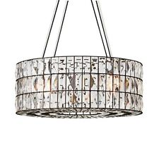 POTTERY BARN Adeline Large Round Crystal Chandelier, NEW
