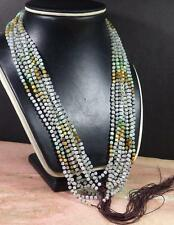 1 Pcs ICY Green Yellow White A JADE Jadeite Bead beads Necklace 23 inches 101296
