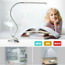 Adjustable LED USB Clip-On Table Lamp Eye Protection Desk Work Reading Light Bed