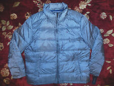 $195 Tommy Hilfiger Mens Grey Puffer Jacket Size XL Authentic Plaid Coat