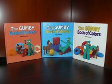 Vintage The Gumby Book of Shapes Letters Colors Jane Hyman Set of 3 Perfect Cond