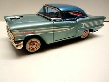 Ichiko Japan Tin Friction 1958 Oldsmobile 2 Dr HT Car. A+.  Works. No Reserve