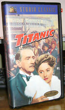 TITANIC (VHS 1953/ 1997) Clifton Webb, Barbara Stanwyck -- Free Postage