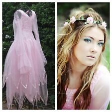 Adult  Pink Fairy Dress ~  Plus Size  Party Costume ~ Theatre ~Flower Crown